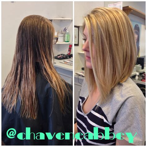 long bob haircuts before and after before and after long bob she s a beaut pinterest