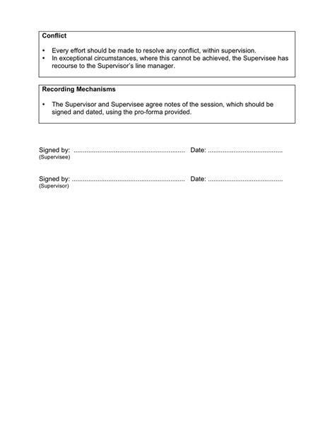 supervision agreement template magnificent supervision templates collection exle