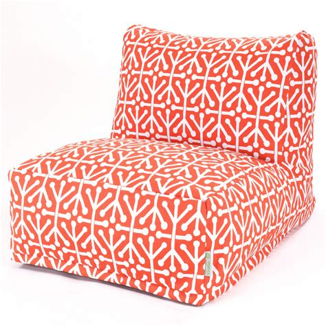 Outdoor Bean Bag Chair Outdoor Orange Aruba Beanbag Chair Contemporary Bean