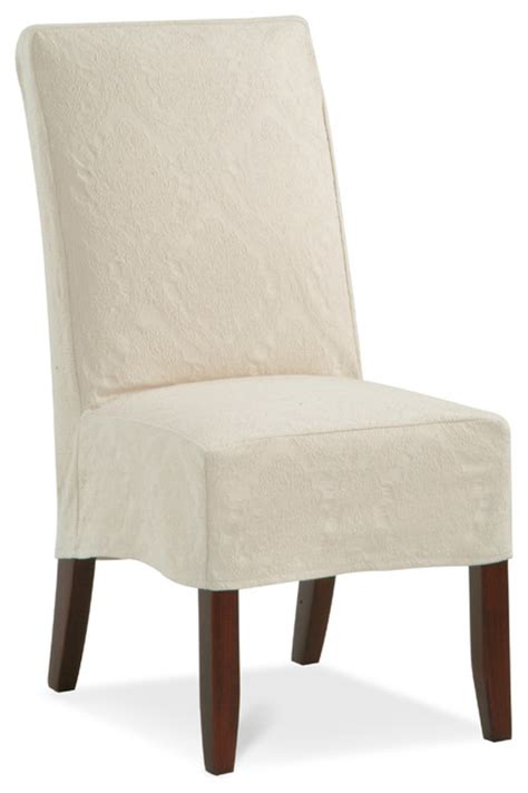 parsons slipcover chair 80pc contemporary dining