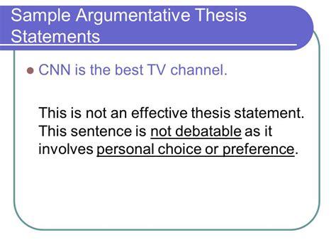 arguable thesis statement exles argumentative essay ppt