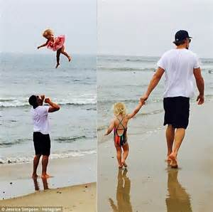 jessica simpson brings the heat on family vacation see jessica simpson trades snickers egg for kiss from daughter