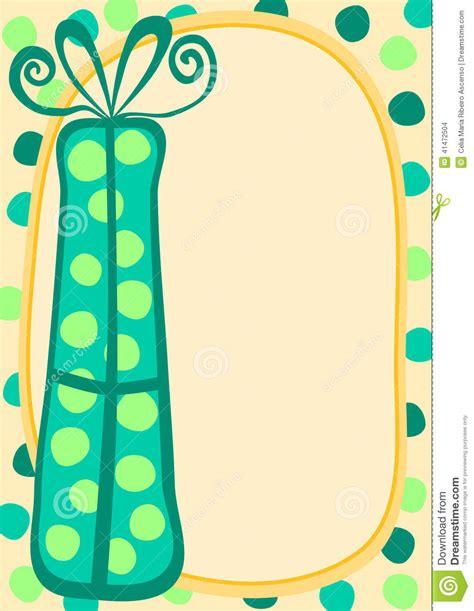 Gift Card Frame - green gift card border frame stock illustration image 41472504