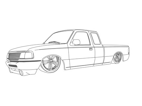 Truck Outline by The Gallery For Gt Truck Outline Drawing
