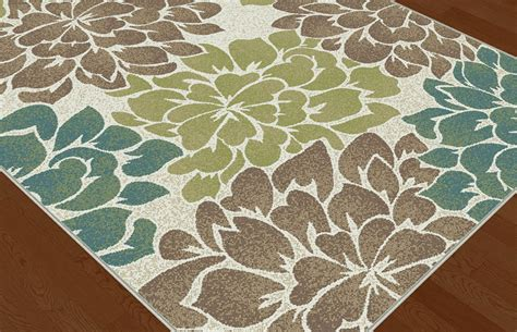 Ivory Contemporary Floral Petals Area Rug Multi Color Modern Floral Area Rugs