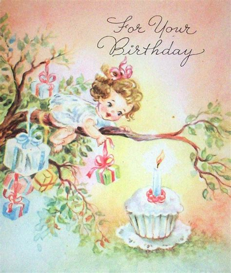 Images Vintage Birthday Cards 17 Best Images About Vintage Birthday Cards On Pinterest