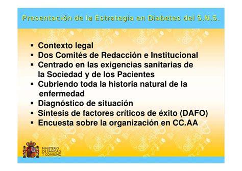 lagrimas de sal la historia del medico de presentaci 243 n de la estrategia en diabetes del sistema nacional de sal