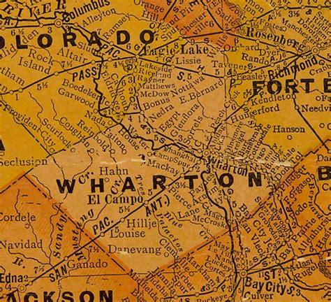 wharton county texas map shanghai texas