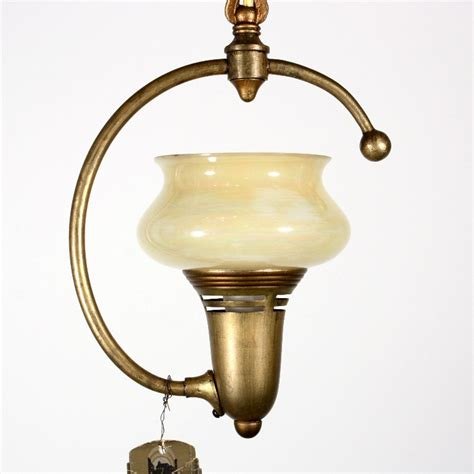 Vintage Lightolier Chandelier Delightful Antique Chandelier With Original Glass Shade New Stock Lightolier Nc1287 Rw For