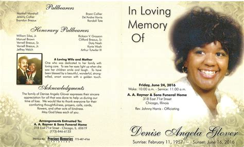 angela obituary aa rayner and sons funeral