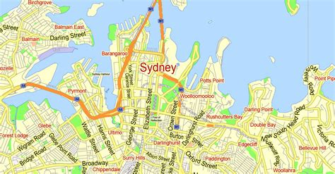 printable road maps australia printable map sydney australia city plan 2000 m scale
