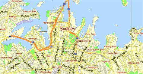 map of australia with sydney printable map sydney australia city plan 2000 m scale