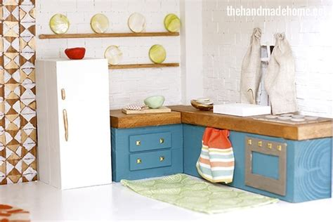 dolls house kitchen furniture how to make a dollhouse kitchen the handmade home