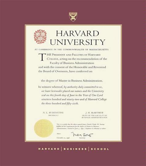 Harvard Mba Certificates by Custom Diploma Frames Certificate Frames Framing