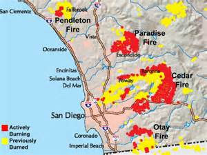 map of current fires in southern california october 2003 southern california wildfire outbreak