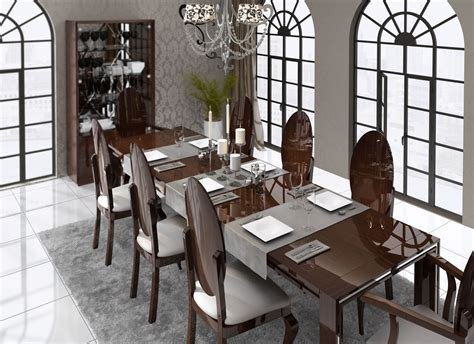 Complete Dining Room Sets Luxurious Rectangular In Wood Fabric Seats Complete Dining Room Sets New York New York Esf
