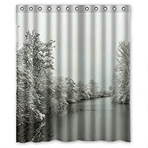 Winter Kitchen Curtains Winter Custom Style Bathroom Fabric Shower Curtain 60 W X72 H Home