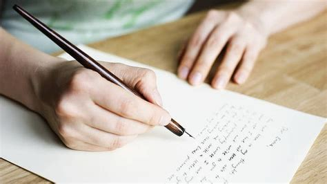 the of writing letters