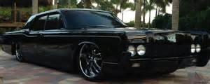 lincoln continental sedan all black 22 rims air ride