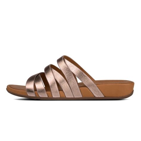 slide in sandals fitflop fitflop design lumy leather slide in soft