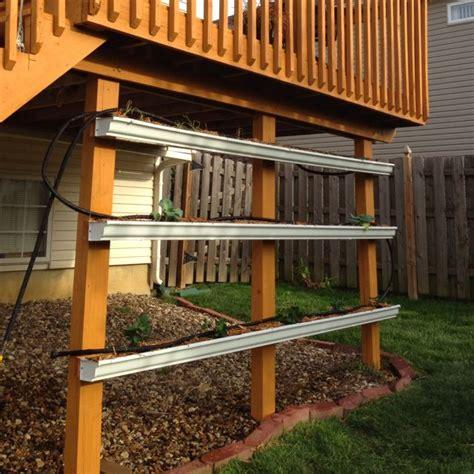 Patio Gutter Ideas 20 Best Diy Gutter Gardens Images On