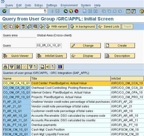sap query tutorial sq01 sap query security a simple case study sap security pages