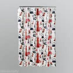 Black And Red Shower Curtains Diva Shower Curtain Ebay