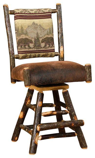 rustic outdoor swivel bar stools hickory log swivel bar stools set of 2 rustic outdoor