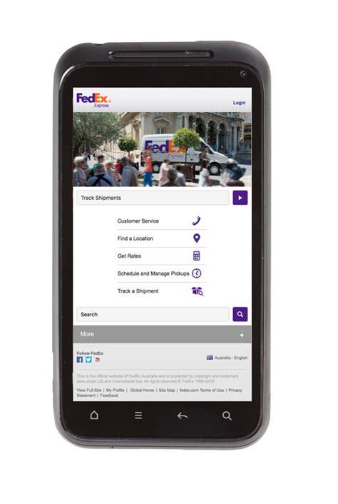 fedex mobile shipment smart phone tracking fedex china