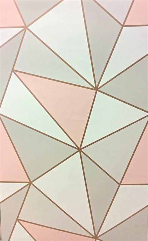 gold geometric wallpaper fine decor wallpaper apex geometric rose gold fd41993