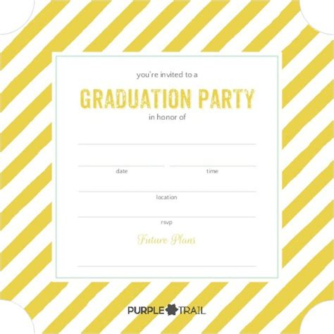Free Invite Templates by 40 Free Graduation Invitation Templates Template Lab
