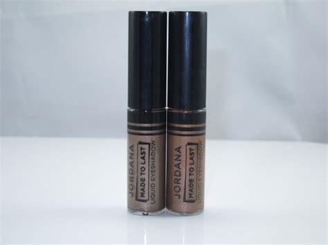 Jordana Made To Last Liquid Eyeshadow Original jordana made to last liquid eyeshadow review swatches and cosmetics
