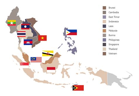 map of southeast asia with countries geo map asia