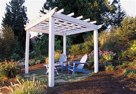 patio arbor plans how to make a great garden trellis or arbor sunset magazine