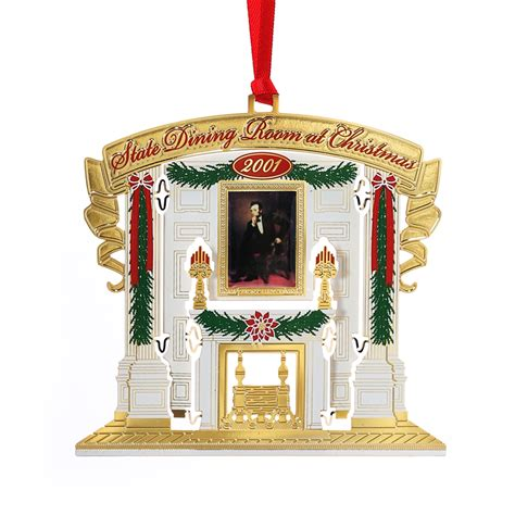 2001 white house ornament 11 in series state dining