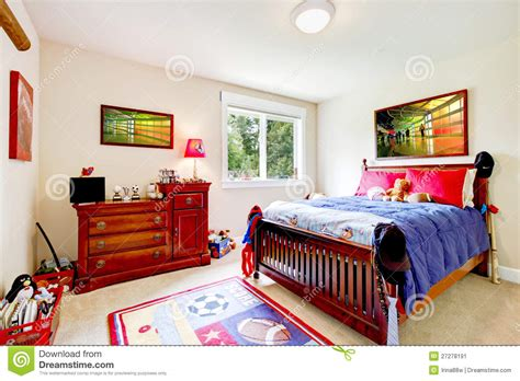 baby boy bedroom furniture baby boy bedroom with wood furniture stock image image 27278191