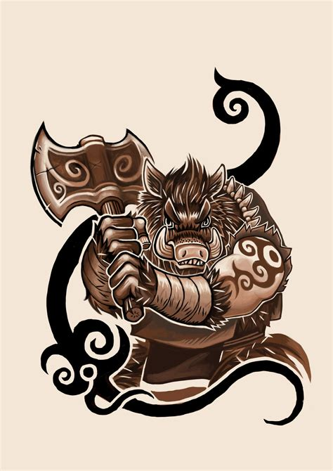 wild boar tattoo designs boar design by k hots on deviantart