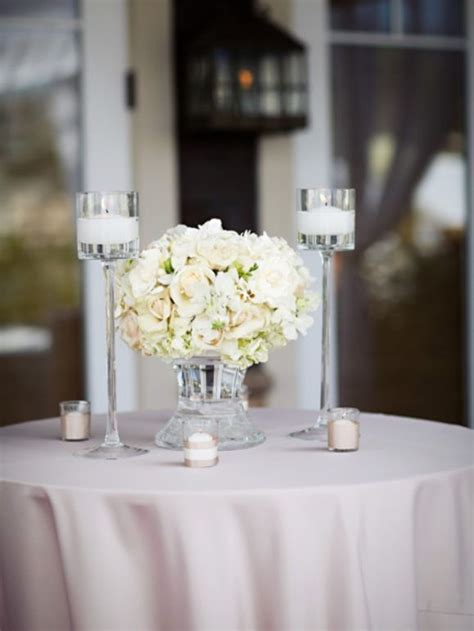 Wedding Cocktail Table Centerpiece white decor   Wedding