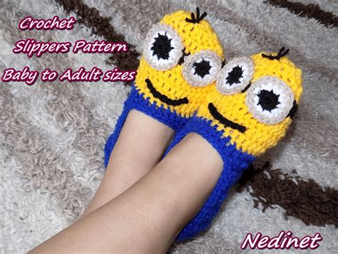 minion crochet slippers pattern crochet pattern minion slippers pattern crochet minion