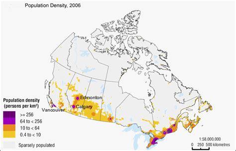 canadian map population density canada o trentino
