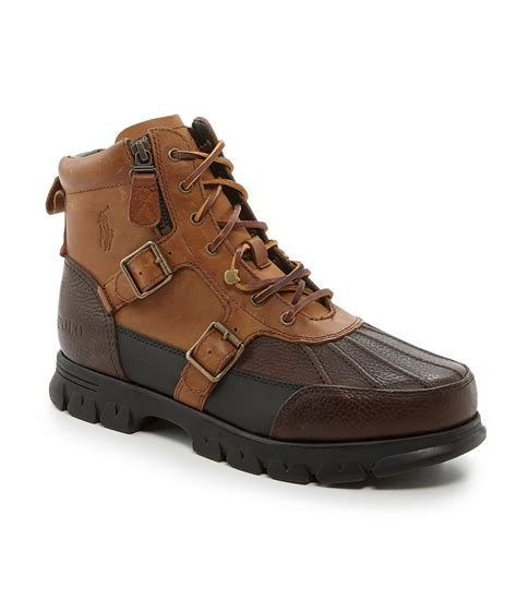 brown polo boots polo ralph demond casual boots in brown for lyst