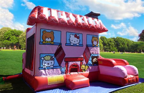 hello kitty houses 7in1 hello kitty bounce house combo rental in miami