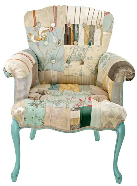 Patchwork Furniture For Sale - provence buttons patchwork chair bespoke