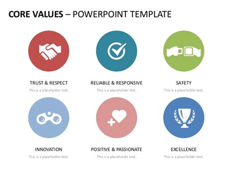 powerpoint templates for values company core values english templates