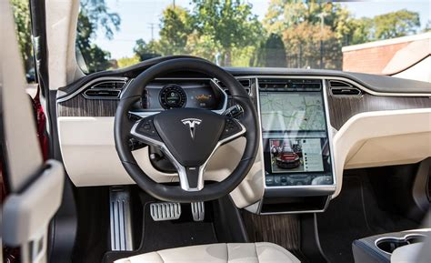 Tesla S Model Interior by Car And Driver
