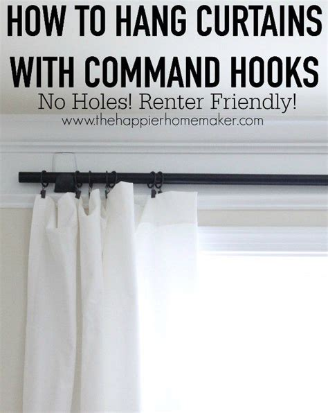 How To Hang Curtains The How To Hang Curtains With Command Hooks For The Sheer