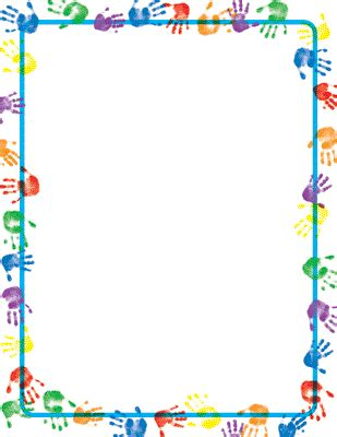 newspaper themed border baby handprints border paper 80 sheets 6 95 from