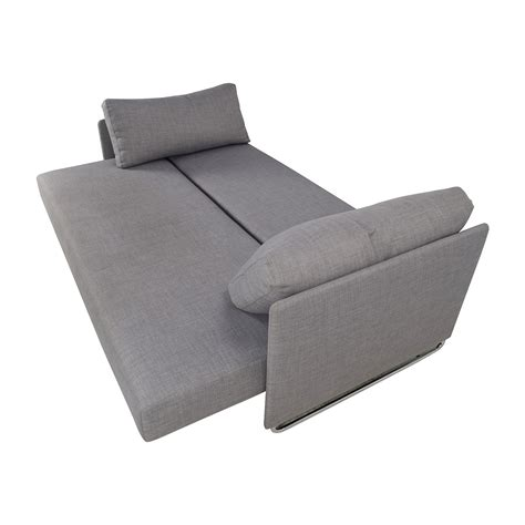 50 Off Cb2 Cb2 Tandom Grey Sleeper Sofa Sofas Cb2 Sleeper Sofa