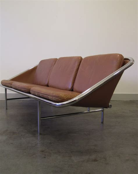 george nelson couch mid century herman miller george nelson leather sling sofa