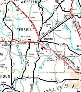 terrell county map transportation in terrell county